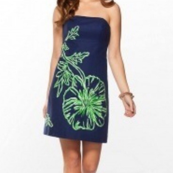 Lilly Pulitzer Strapless Bowen Embroidered Dress